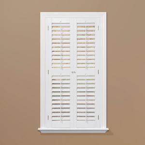 Home Basics Plantation Faux Wood White Interior Shutter Price