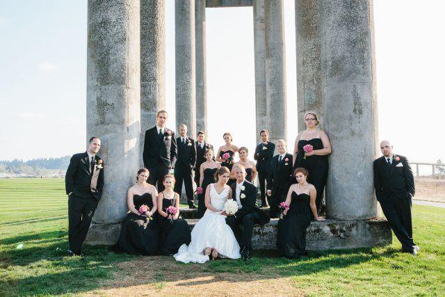 Black White Hot Pink Wedding At Chambers Bay Hot Pink Weddings Pink Wedding Wedding