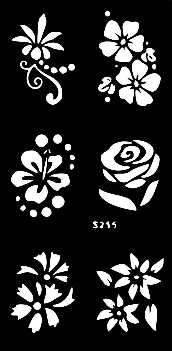 b53b27963 10 Mixed Designs Temporary Tattoo Henna Glitter Stencil Sticker Template  face Paint body art by VinylCre8iveDesigns on Etsy