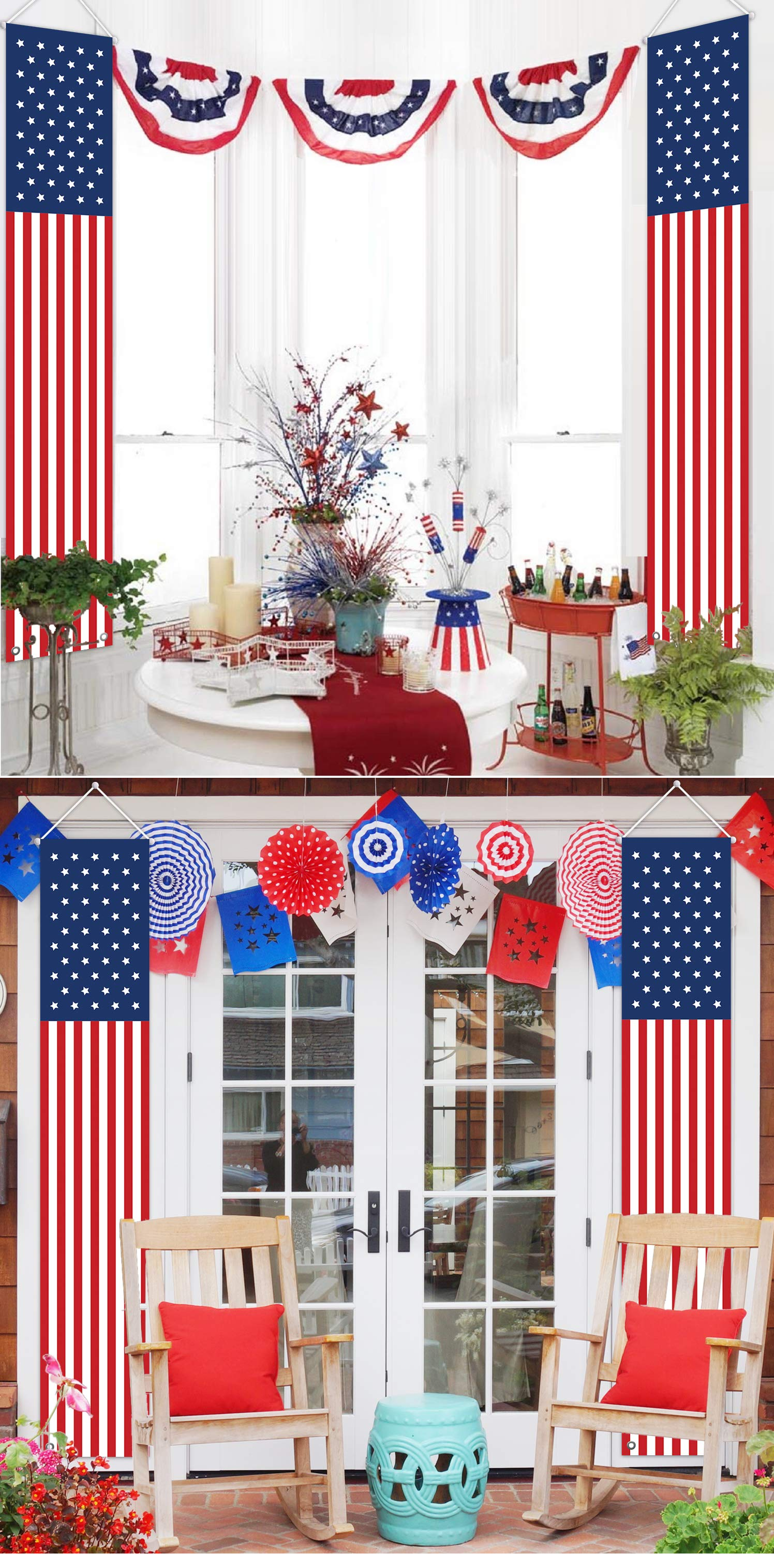 Christmas In July Party Supplies.Mordun Patriotic Decorations For Independence Day 4th Of