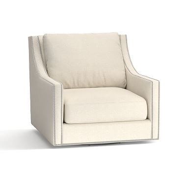 Pasadena Upholstered Swivel Armchair Polyester Wrapped