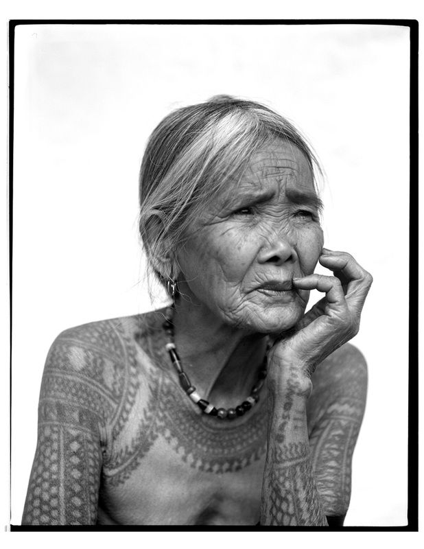 Apo Whang-od indigenous Kalinga tattooist. Photo by Jake Verzosa