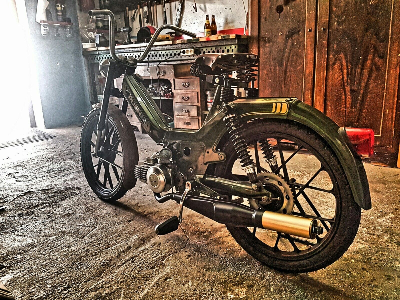 puch maxi s 70ccm tuning on the road pinterest. Black Bedroom Furniture Sets. Home Design Ideas