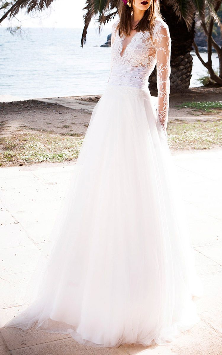 Lace and tulle ballgown by costarellos for preorder on moda operandi