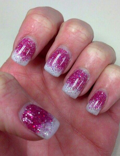 Solar Glitter Ombre Nails
