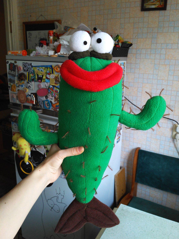 Cactus Stuffed Toy, Handmade Cactus, Kawaii Fish Cactus