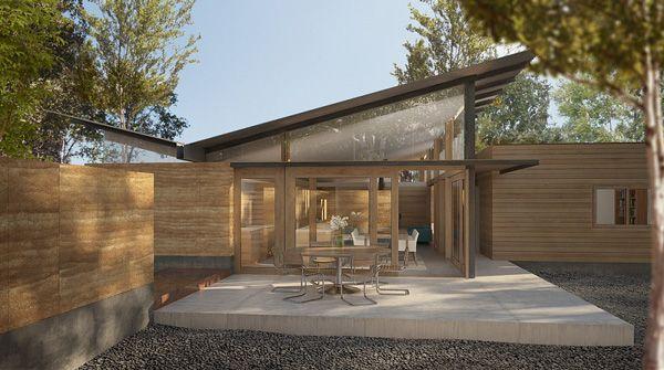 Rammed Earth Designed For Boulder Home Remodel