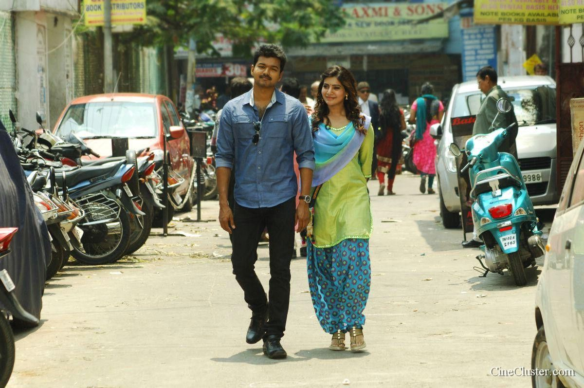 kaththi movie latest hd stills. vijay and samantha starring kaththi