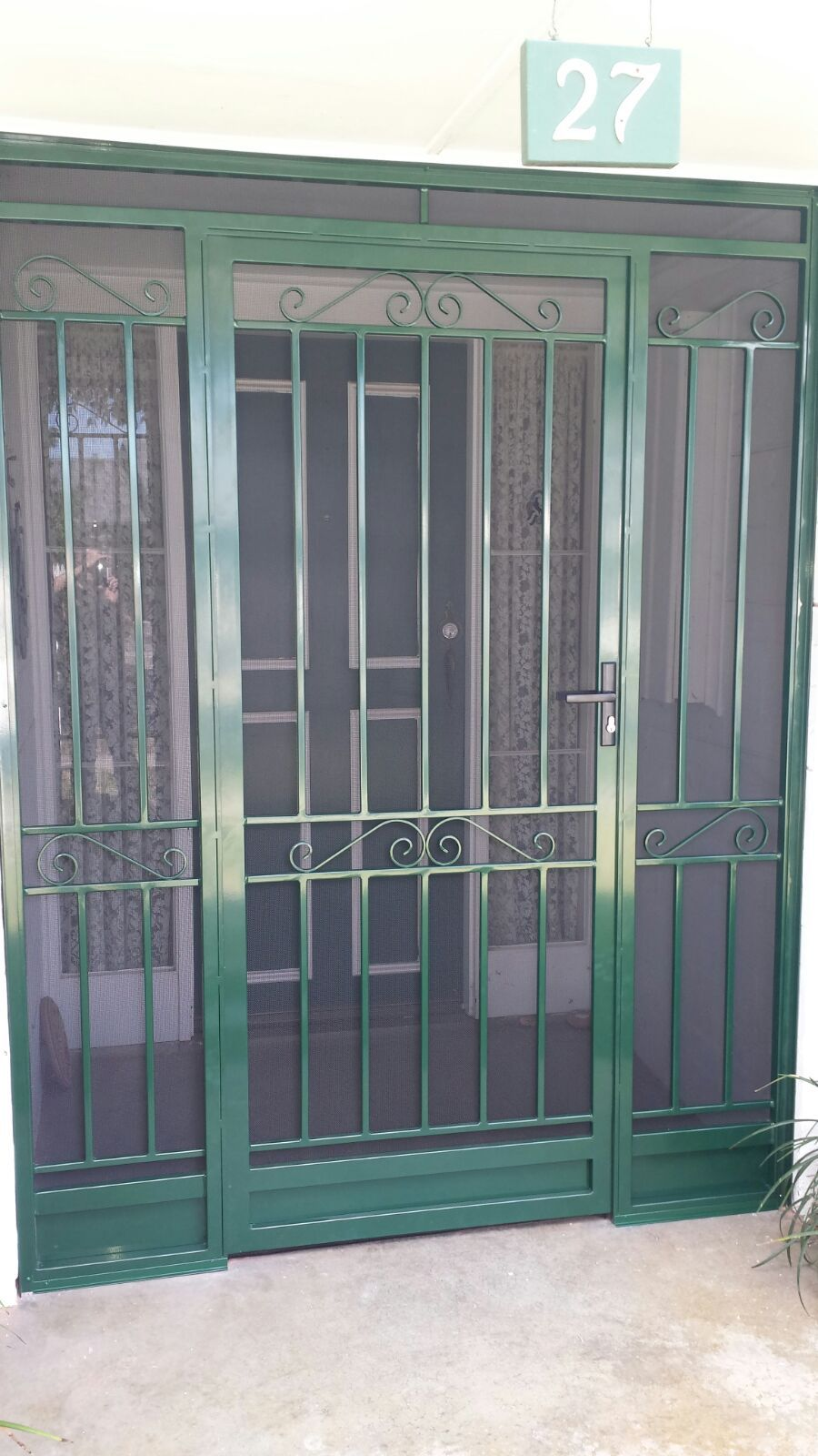 Steel Security Door Porch Enclosure With Stainless Steel Mesh Installed In Wheelers Hill Security Door Metal Screen Doors Porch Enclosures