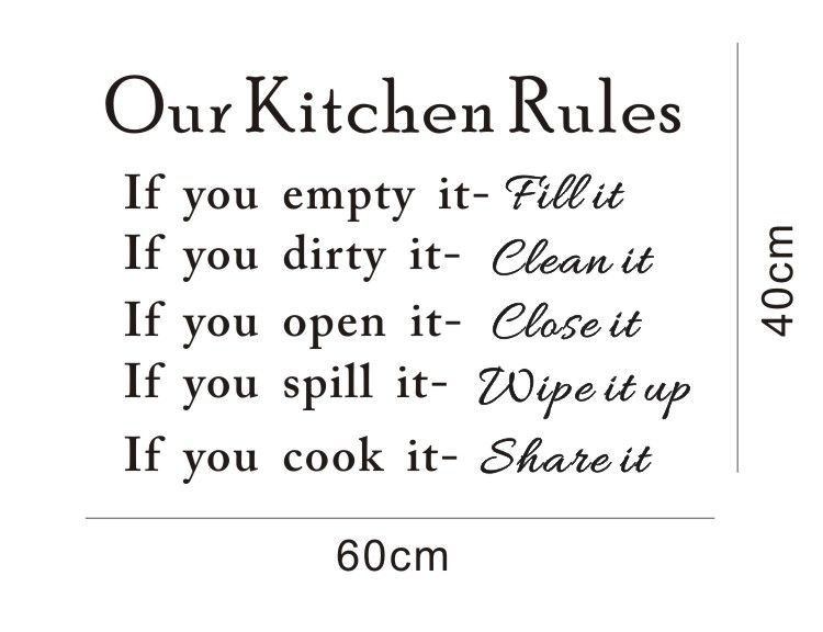 Office kitchen rules google search kitchens for Kitchen colors with white cabinets with funny wall art quotes