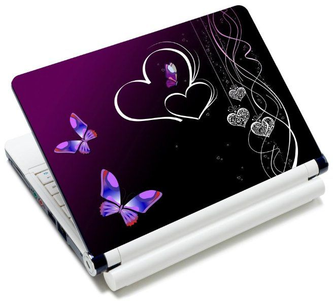 Free 2 Wrist Pad Included LSS 15 15.6 inch Laptop Notebook Skin Sticker Cover Art Decal Fits 13.3 14 15.6 16 HP Dell Lenovo Apple Asus Acer Compaq Purple Floral