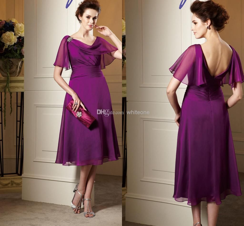 Wholesale mother of the bride dresses buy cheap simple purple