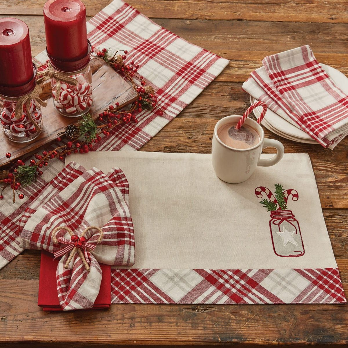 Mason Peppermint Placemat Piper Classics Christmas Placemats Christmas Table Centerpieces Christmas Crafts For Gifts