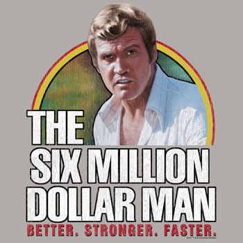 Steve Austin The Six Million Dollar Man T Shirt Bionic Woman Steve Austin Old Tv Shows