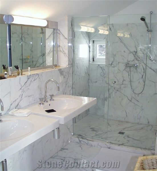Bianco Carrara Venato C Marble Bathroom Design Marble Bathroom
