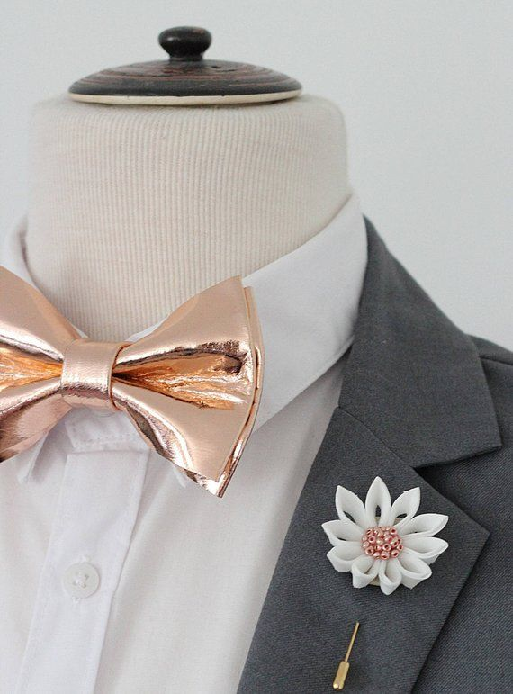 57d6e0c2dd0c Rose Gold leather bow tie for men,rose gold wedding bow tie, gold boys  bowtie, gold bow tie, copper | Products | Gold bow tie, Bow tie wedding, ...