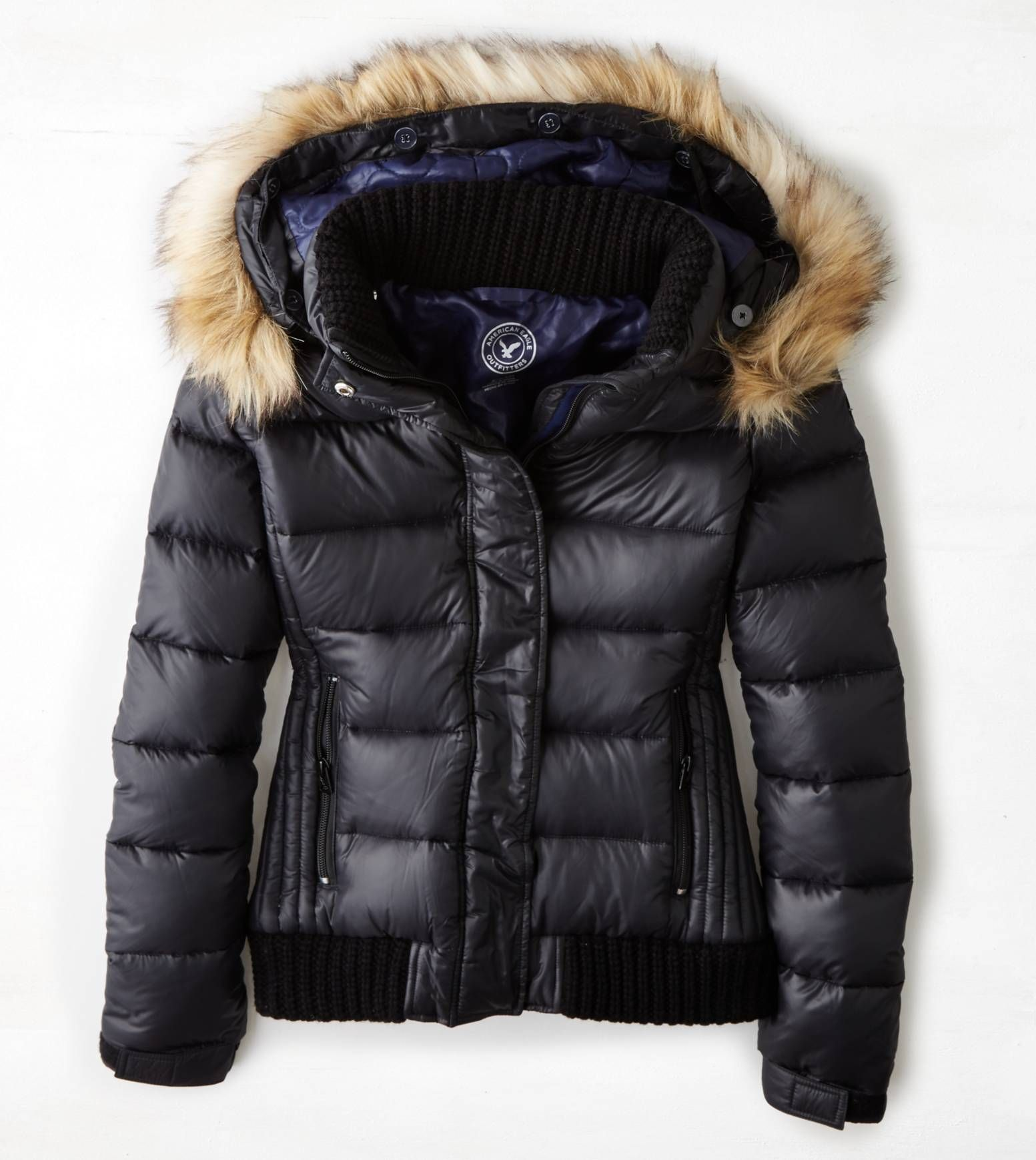 True Black Aeo Get Down Hooded Puffer Jacket Jackets Fashion Puffer Jackets [ 1739 x 1553 Pixel ]