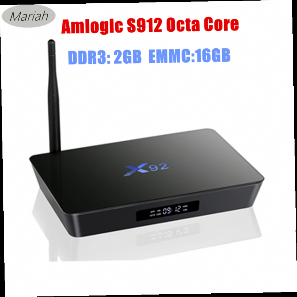 526.96$  Buy now - http://aliweb.worldwells.pw/go.php?t=32753189638 - 10pcs X92 S912 64bits TV BOX Octa Core 2GB+16GB Android 6.0 Marshmallow TV Box X92 Wifi Bluetooth atenna Flixster Miracast