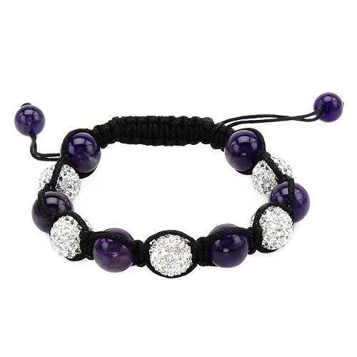 Silk Crystal and Simulated Gems Unisex Bracelet. Total Item weight 16.1 g. VividGemz. $19.00
