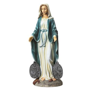 Miraculous Medal Madonna Sacred Garden Statue Mary Statue