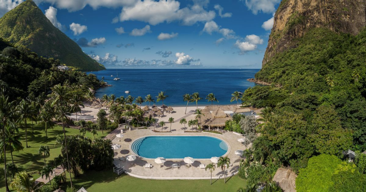 Escape Your 9 To 5 And Find Your Peace At Sugar Beach A Beautiful Luxury Beach Resort In St Lucia Brought In 2020 Luxury Beach Resorts St Lucia Hotels Beach Resorts