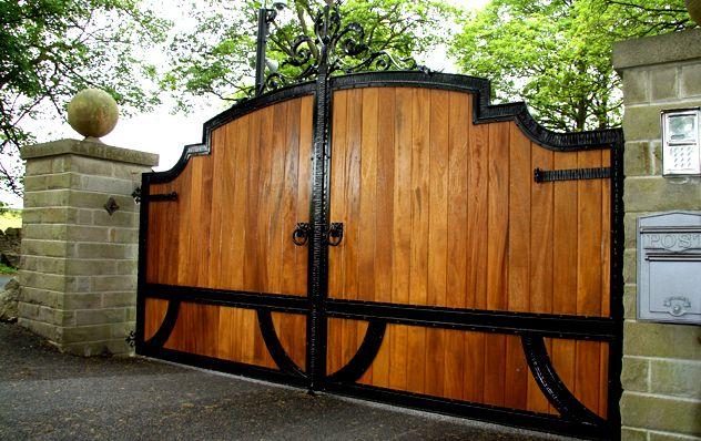 Iron Driveway Gates Wood Gates Iron Solid And Driveway