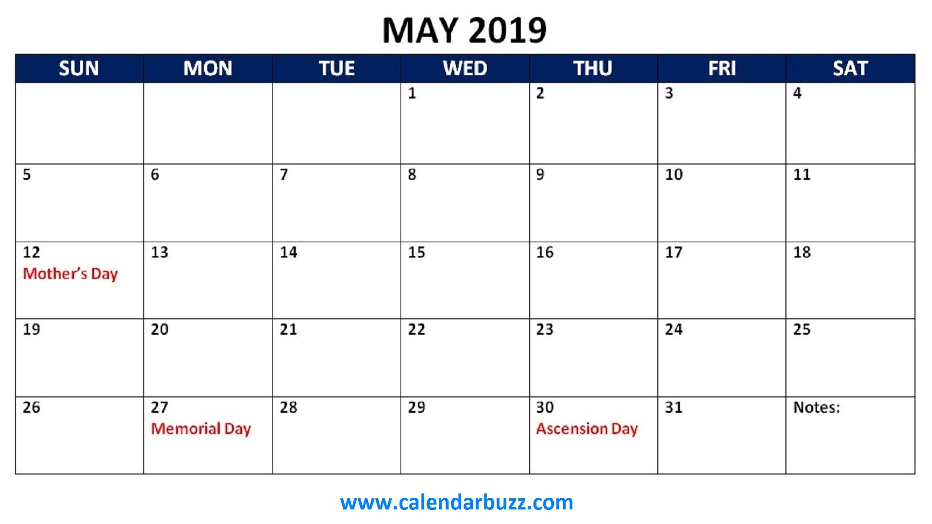Free Holidays Printable Calendar Monthly Templates