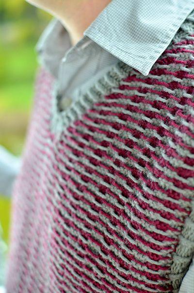 Cool vest- reverse colorwork... :) | Knit & crochet patterns | Pinterest