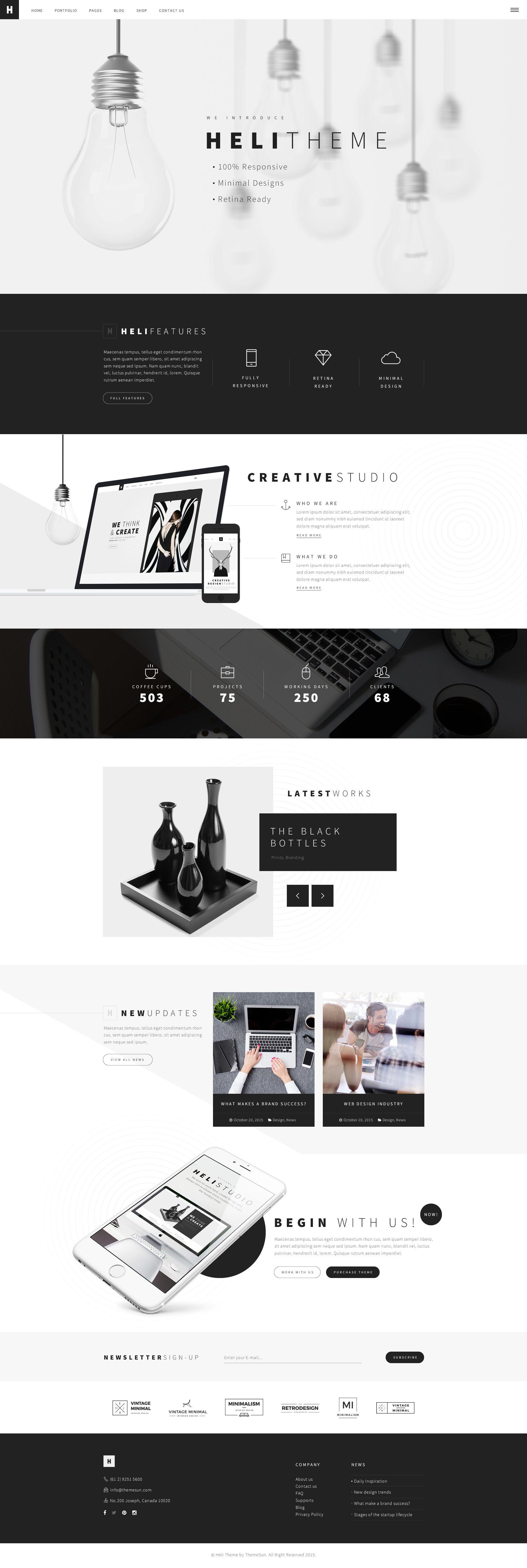 55 Best Business Wordpress Themes 2020 Comparison Web Design Inspiration Website Design Layout Creative Web Design