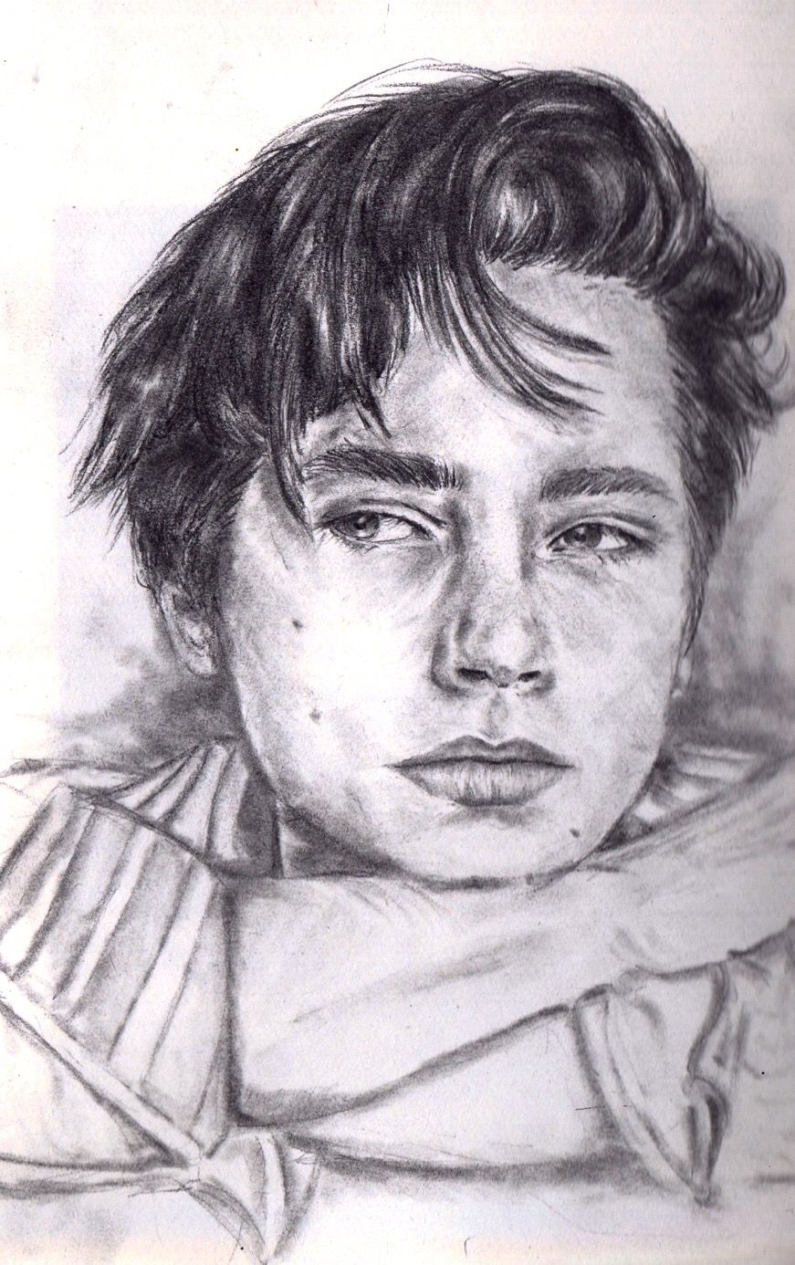 Cole sprouse pencil drawing