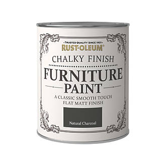 Rust Oleum Universal Furniture Paint Chalky Natural Charcoal Black 750ml In 2020 Painted Furniture Natural Charcoal Universal Furniture
