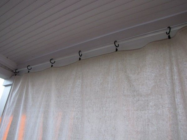 This Site Tells How She Hung Drop Cloths On Back Patio...super Cheap