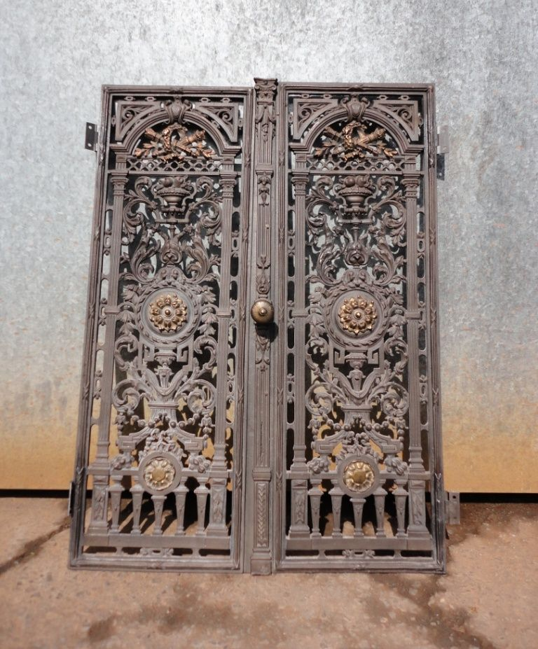 decorative metal panels restoration of decorative cast iron door panels - Decorative Metal Panels