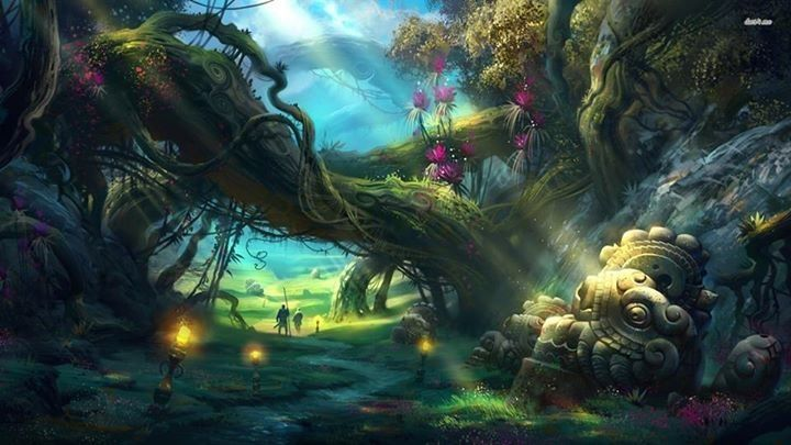 Image result for enchanted forest with fairies