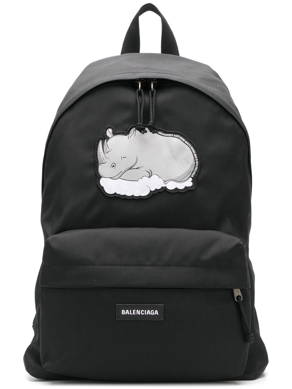 Rhino Print Explorer Backpack In Black Backpacks Balenciaga Designer Backpacks