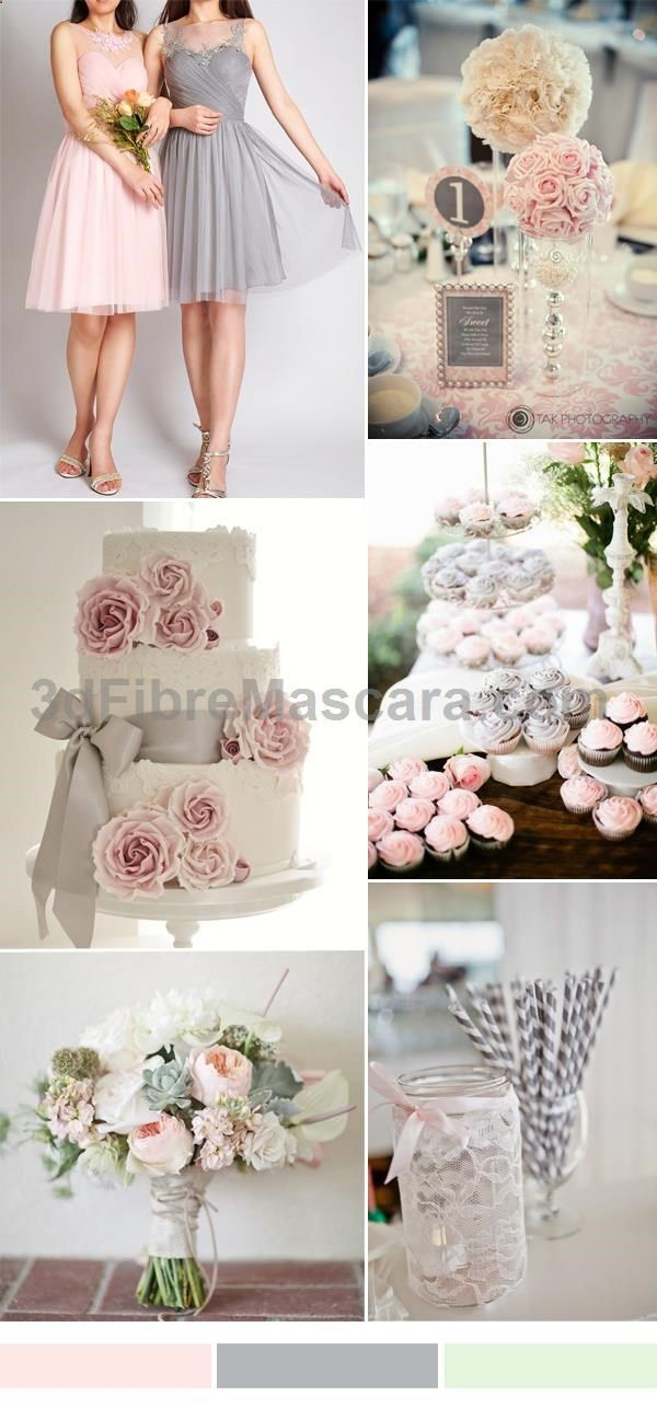 Tbqp300 tbqp301 pink and grey wedding color ideas short tulle tbqp300 tbqp301 pink and grey wedding color ideas short tulle bridesmaid dresses weddings wedding marriage weddingdress weddinggown ballgowns mightylinksfo