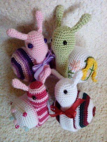 USD 21.89 Amigurumi Baby Rattle,Crochet Toy,Amigurumi Snail Rattle ...