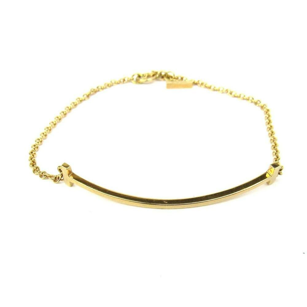d1c2baef1 eBay #Sponsored Authentic TIFFANY&CO T Smile Bracelet K18YG (750) Yellow  gold Used Vintage