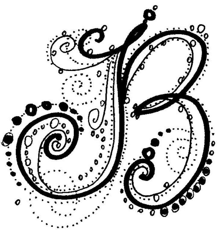 """Fancy Alphabet - B"" by Kathi McCrobie-Quinn | Tattoo's ..."