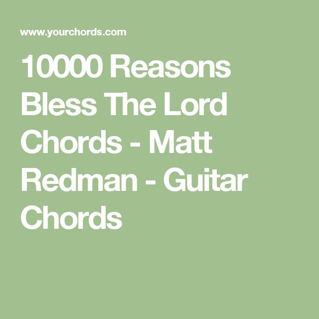 10000 Reasons Bless The Lord Chords Matt Redman Guitar Chords