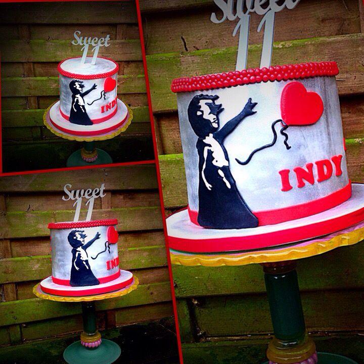 Banksy cake 17th birthday sweet cake