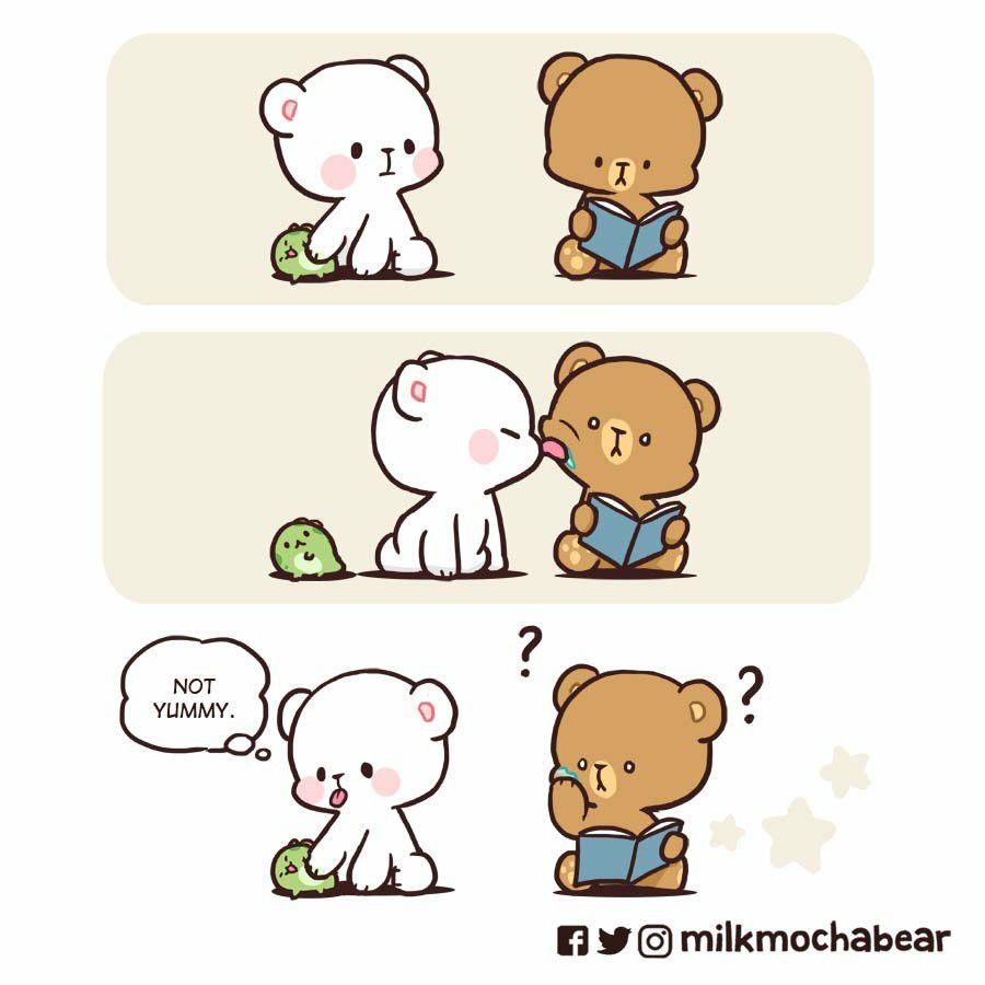 Milk And Mocha Bear In 2020 Cute Love Cartoons Cute Love Gif Cute Bear Drawings