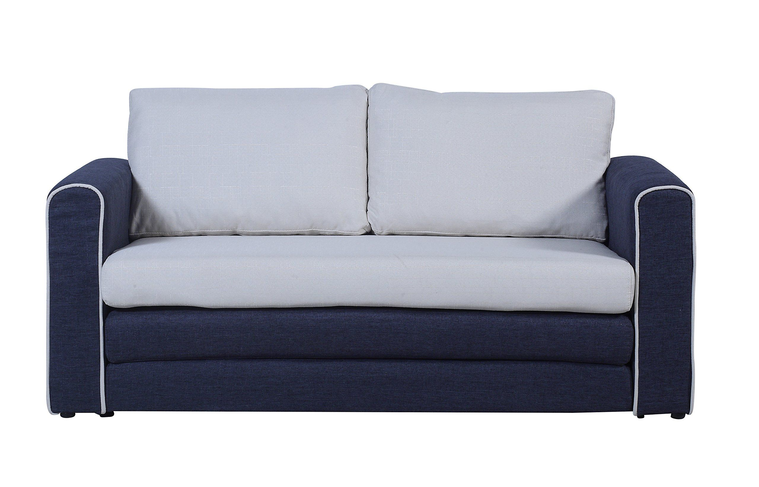 Best Modern 2 Tone Modular Convertible Sleeper Dark Blue 400 x 300