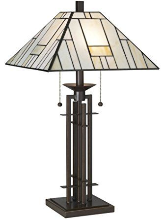 Franklin Iron Works Wrought Iron Tiffany-Style Table Lamp ❤ Franklin Iron Works