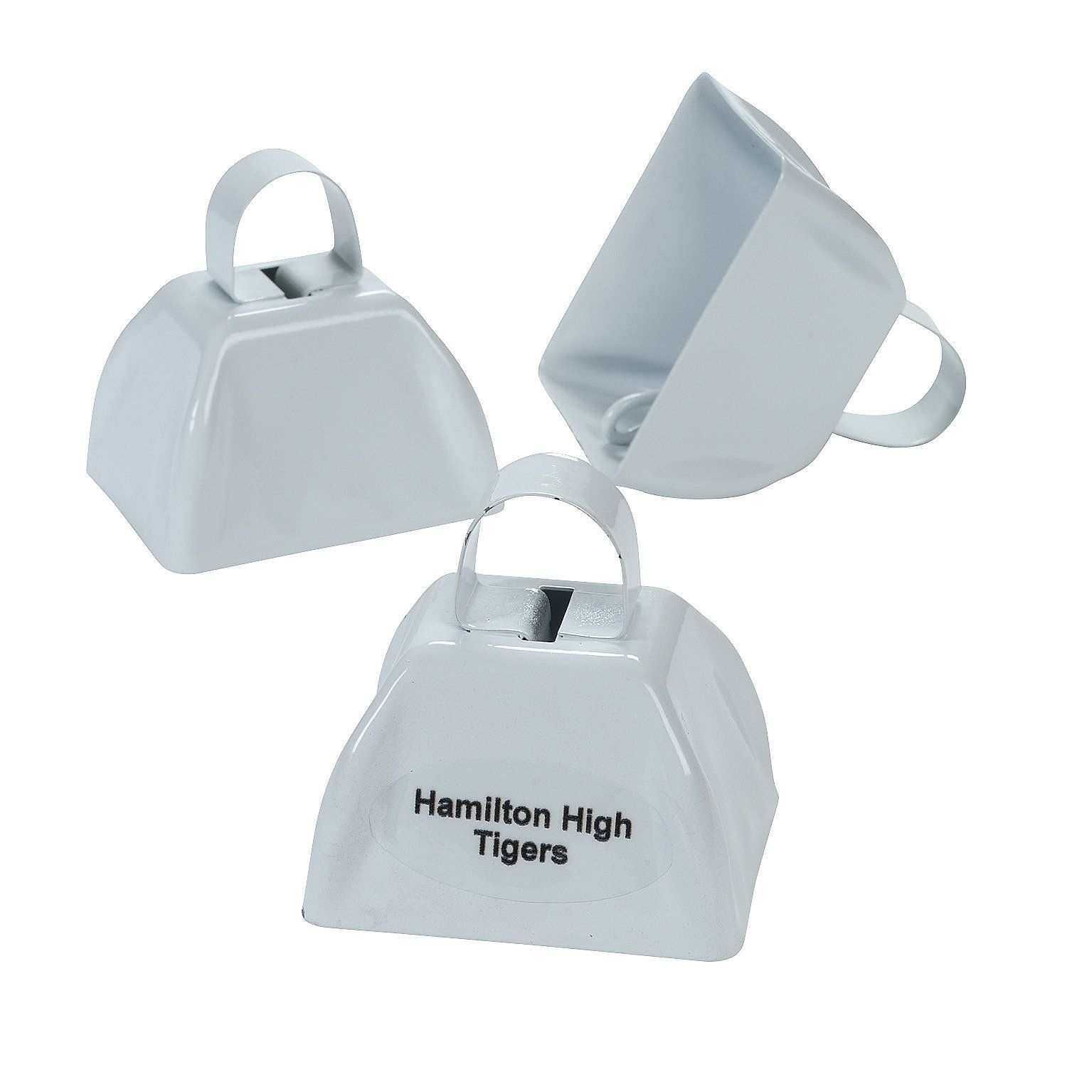 Personalized White Cowbells Orientaltrading Wedding Ideas