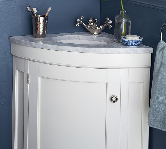 Brinkley Demilune 21 5 Single Corner Sink Vanity Painted Vanity Bathroom Corner Sink Small Sink