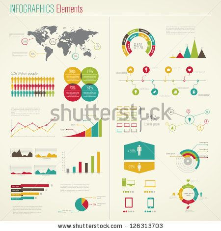 Infographics Elements. Vector Illustration by Antun Hirsman, via Shutterstock
