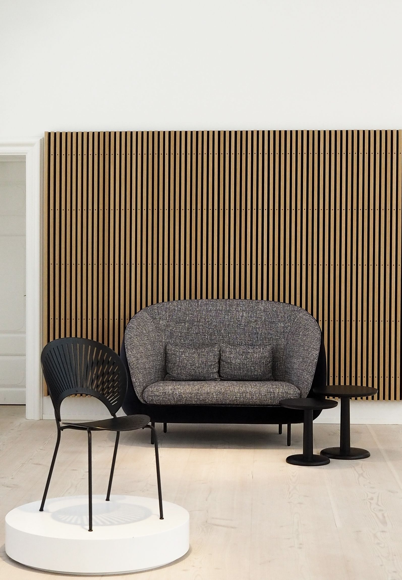 Danish modern furniture design for fredericia trinidad chair haiku sofa and pon tables shot by hannah trickett