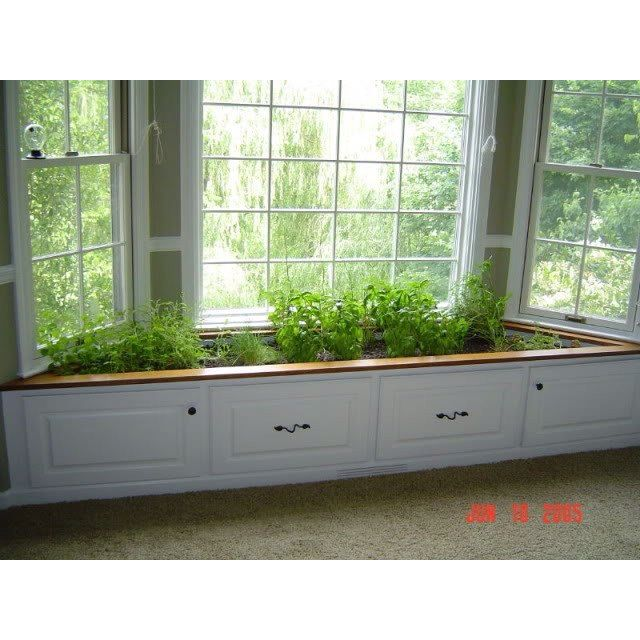 Merveilleux Indoor Herb Garden In Bay Window!
