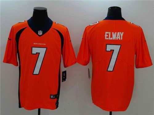27bfe773 $21 Men's Denver Broncos #7 John Elway Stitched Orange 2017 Vapor ...